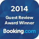 Booking.com 2014 guest review award winner